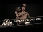 Jul et Dim - tatoueurs au mondial du tatouage 2016